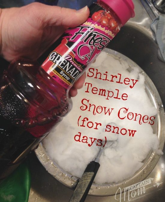 Shirley Temple Snow Cones (for Snow Days)