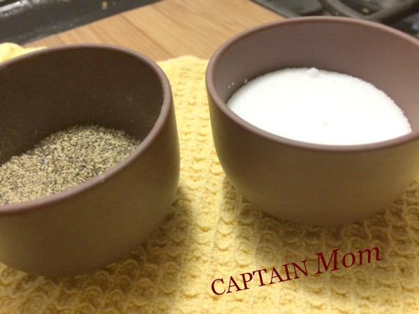 captain mom, rhonda franz, cooking tips, salt in bowl