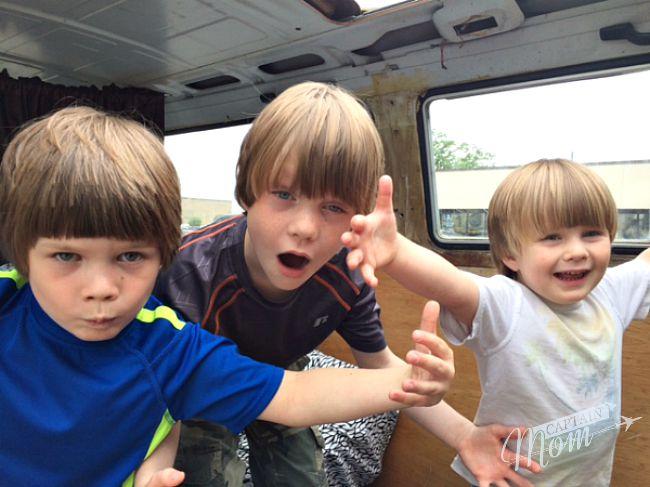 Rhonda Franz, Captain Mom, three boys, summer playdate