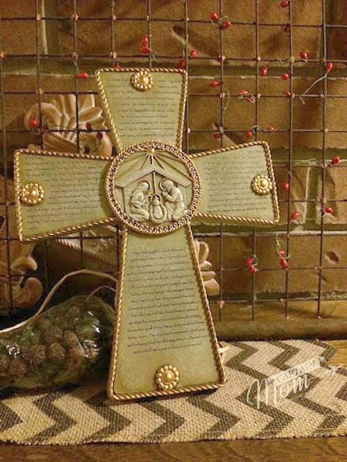 Captain Mom Christmas Cross