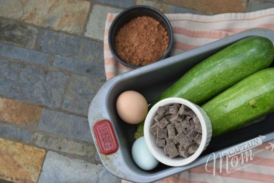 Chocolate Zucchini bread with chocolate chunks