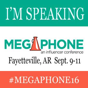 Megaphone speaker badge