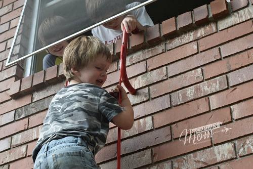 Fire escape practice