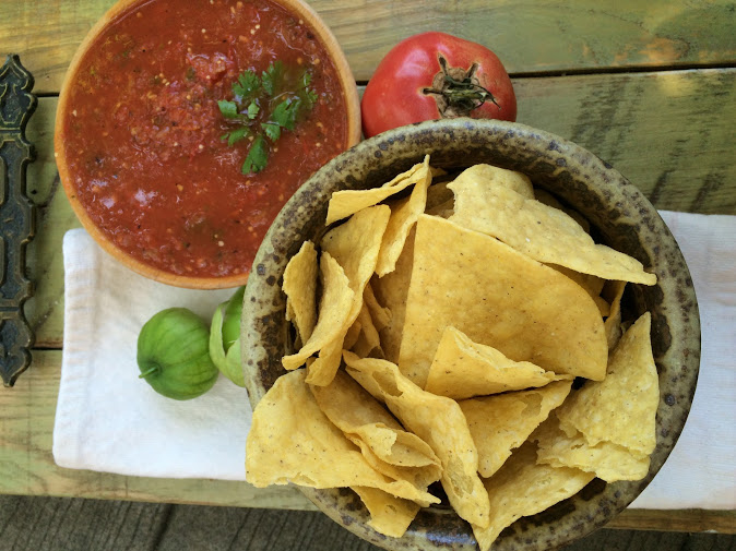Roasted Salsa with Tomatoes and Tomatillos