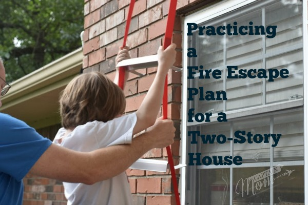 fire prevention, fire escape from two-story house