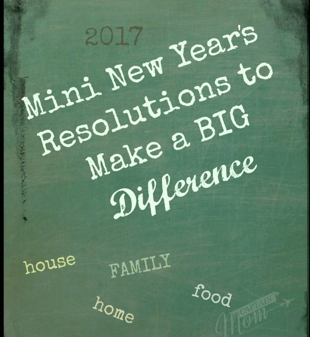 Mini resolutions for the new year 2017