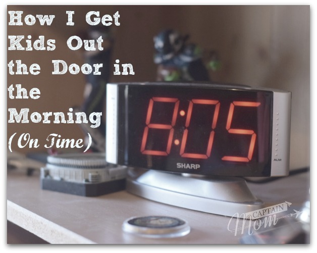 Our Morning Routine that Gets Kids Out the Door (On Time)