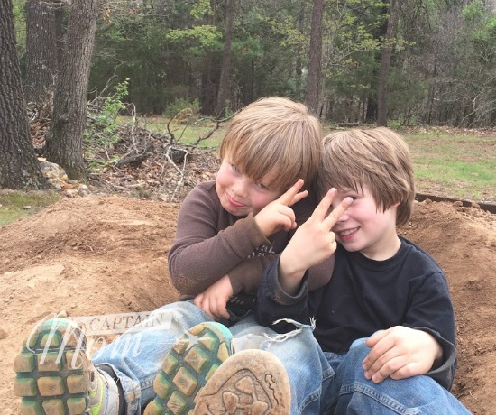 play in a dirt pile, play in a pile of dirt