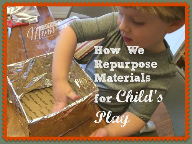 How We Repurpose Materials for Child's Play
