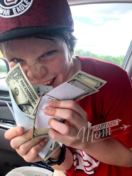 School tips, keep cash around